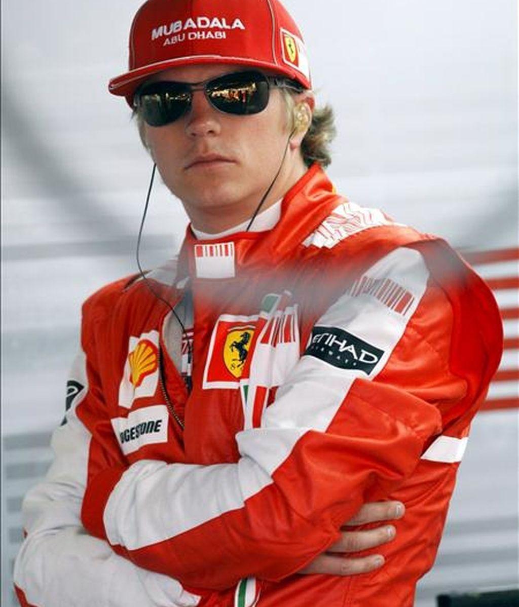 El piloto finlandés Kimi Raikkonen, de la escudería Ferrari. EFE/Archivo