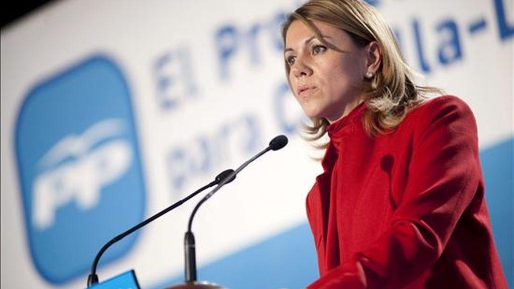 La presidenta del Partido Popular, María Doleres de Cospedal. EFE/Archivo