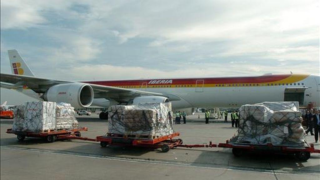 Un avión de la compañía aérea Iberia. EFE/Archivo