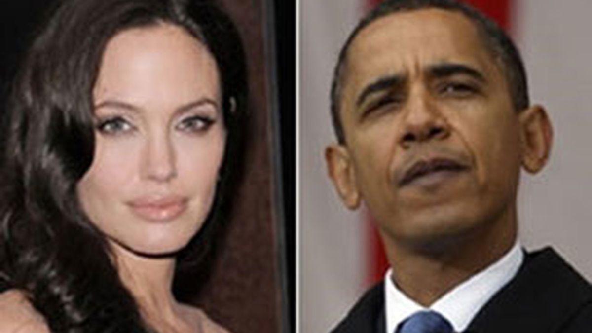 """Angelina Jolie no es una seguidora de Obama. La actriz cree que el presidente de EEUU es un """"socialista camuflado""""."""