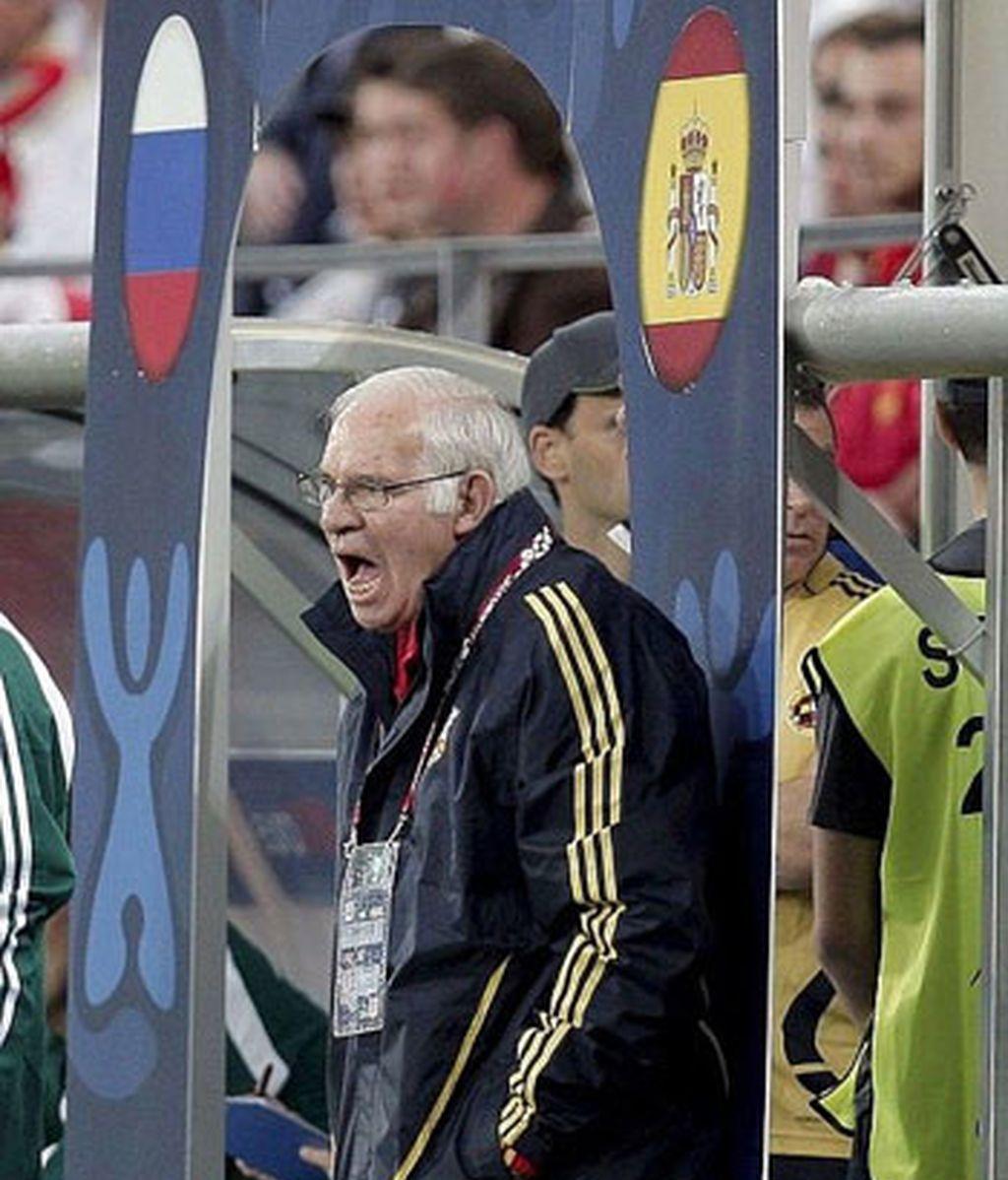 Aragonés, durante el encuentro. Foto: AP