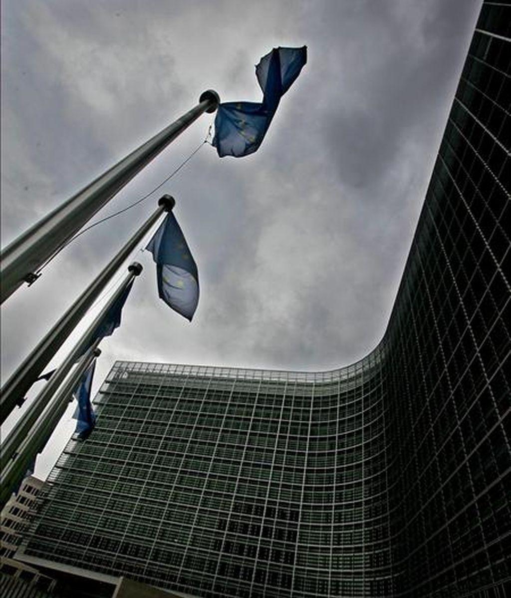 El cielo encapotado sobre el edificio Berlaymond en Bruselas, Bélgica. EFE/Archivo
