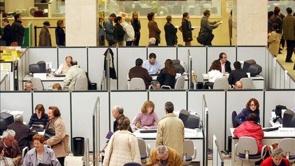 La oficina de la Delegación de Hacienda de Guzmán el Bueno, en Madrid. EFE/Archivo