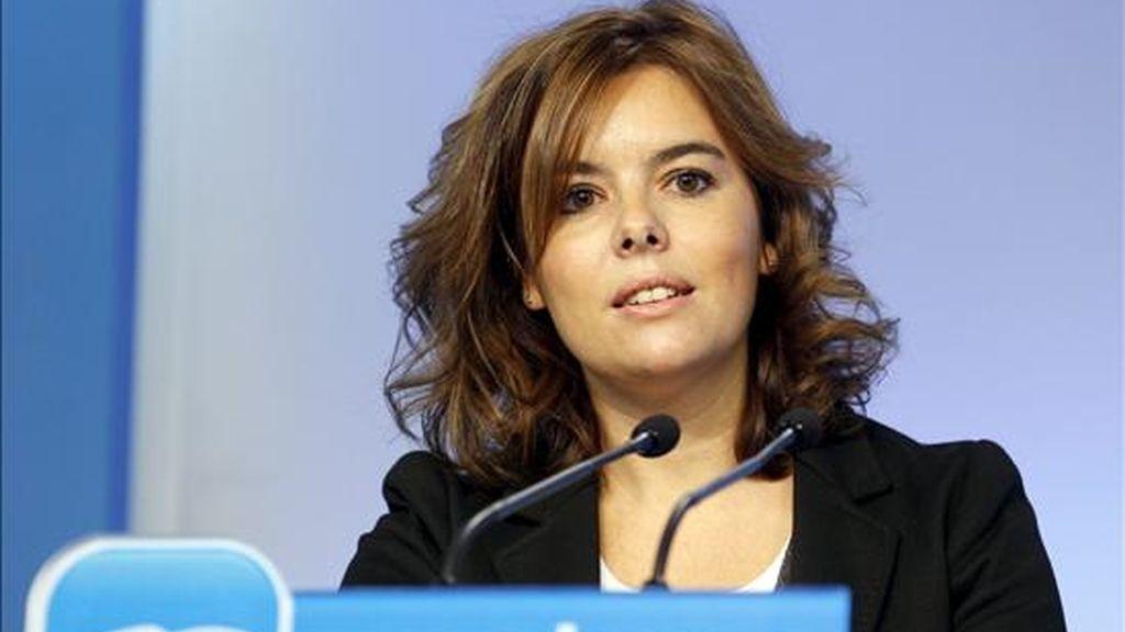 Fotografía facililtada por el PP de la portavoz del grupo en el Congreso, Soraya Saénz de Santamaría. EFE/Archivo