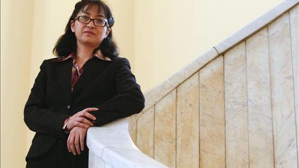 La periodista mexicana Rosa Isela Pérez durante la entrevista que ha concedido a EFE en el Círculo de Bellas Artes de Madrid, ciudad en la que mañana recibirá uno de los galardones que concede el Consejo General de la Abogacía Española (CGAE) por la lucha a favor de los derechos humanos. EFE