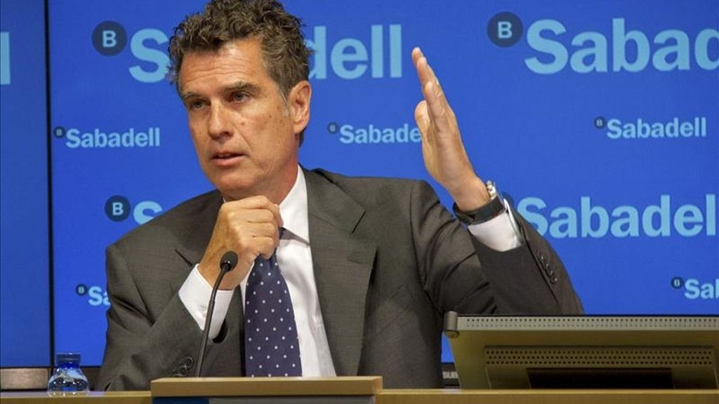 Fotografía facilitada por el Banco Sabadell del consejero delegado, Jaume Guardiola, quien ha afirmado que la entidad está centrado en el crecimiento orgánico y no en una operación corporativa, en referencia a la postura del banco en el proceso de reestructuración de las cajas. EFE