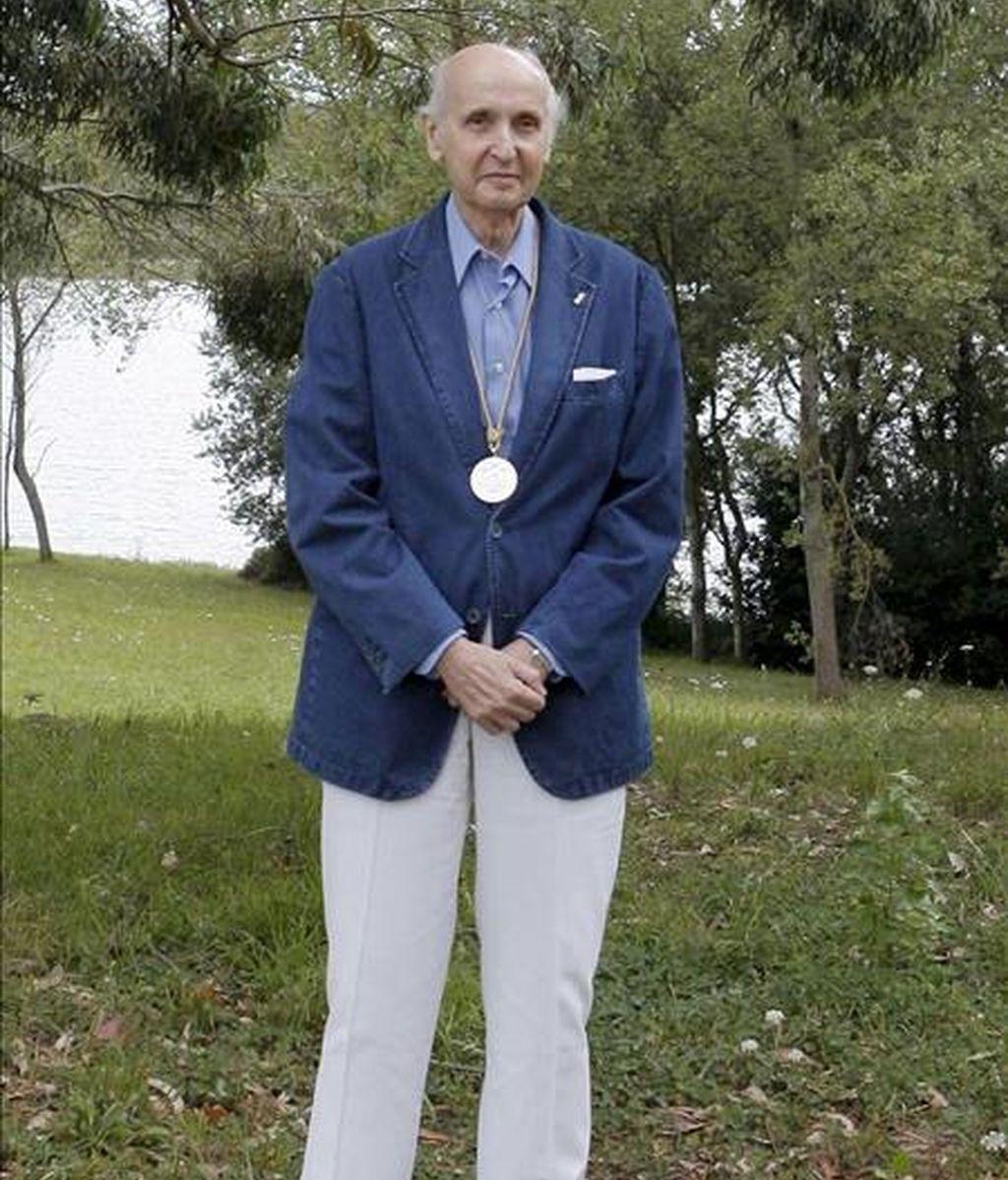 El presidente honorario de los Premios Rey Jaime I, el científico Santiago Grisolía. EFE/Archivo