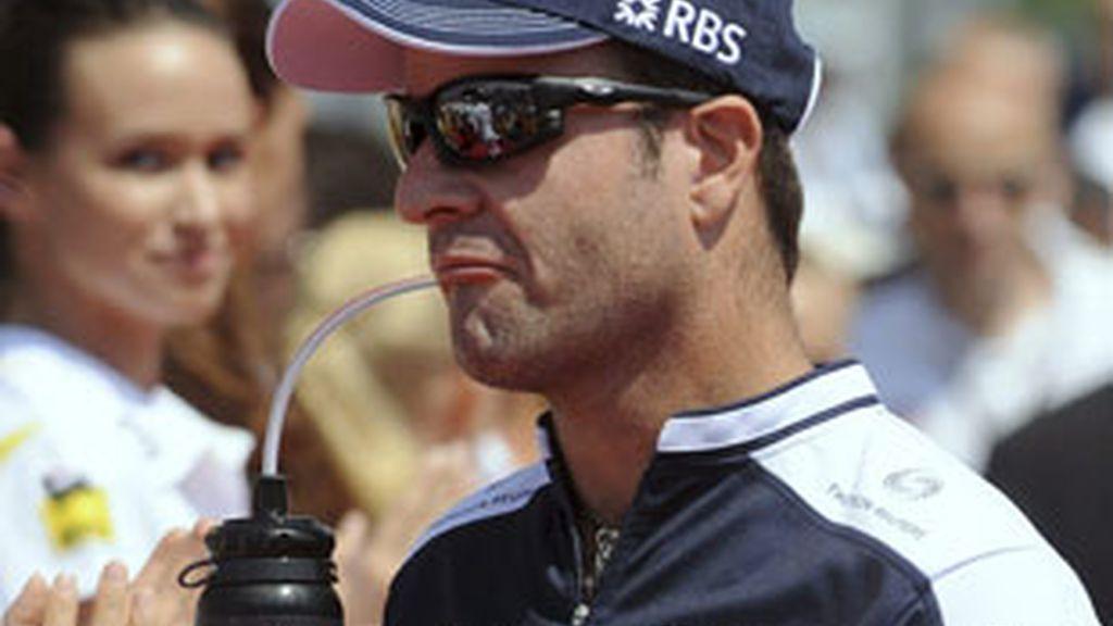 Barrichello tras acabar el Gran Premio de Hungría. Foto: EFE