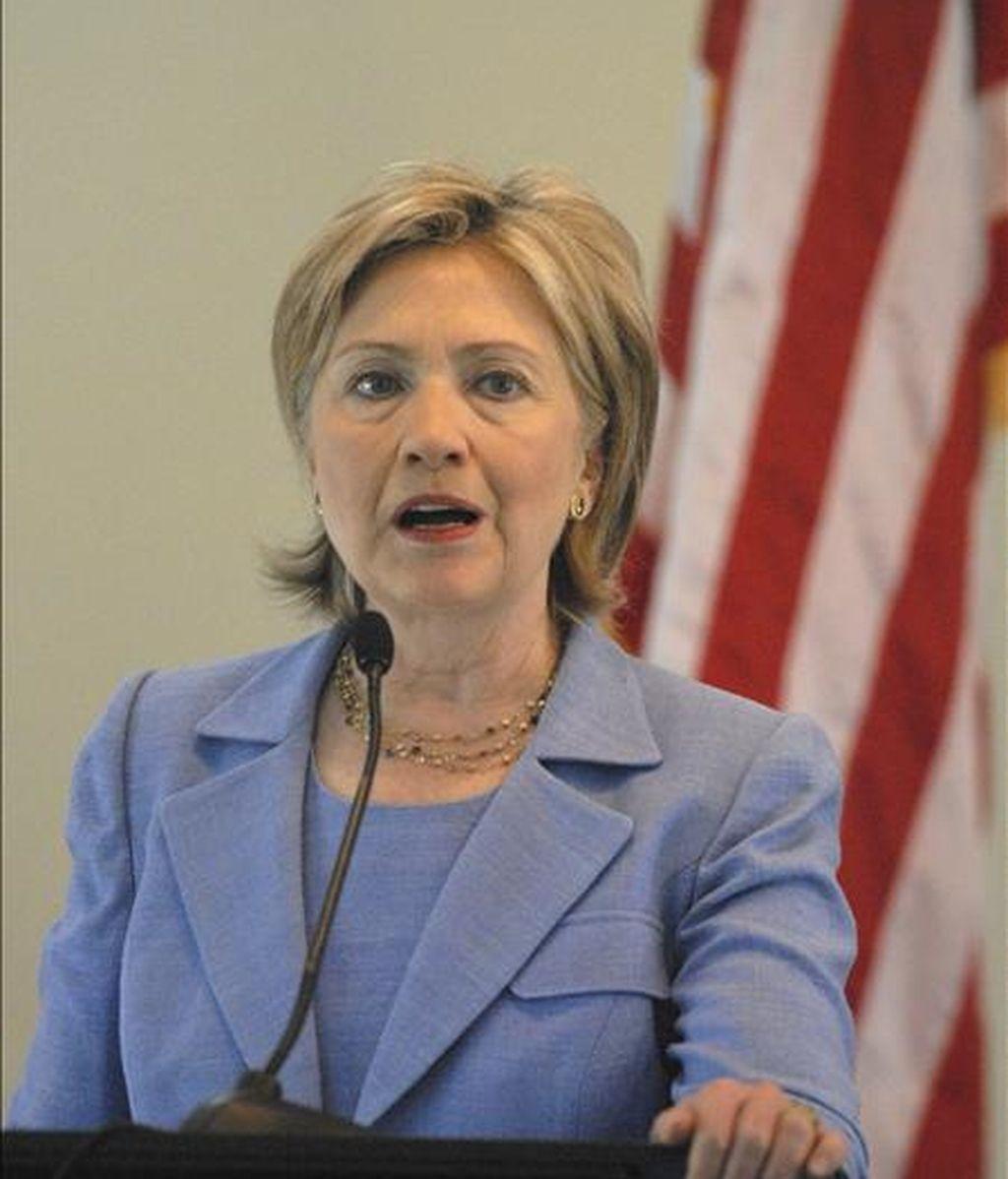 Imagen de este viernes de la secretaria de Estado de Estados Unidos, Hillary Clinton, durante una visita a República Dominicana. EFE