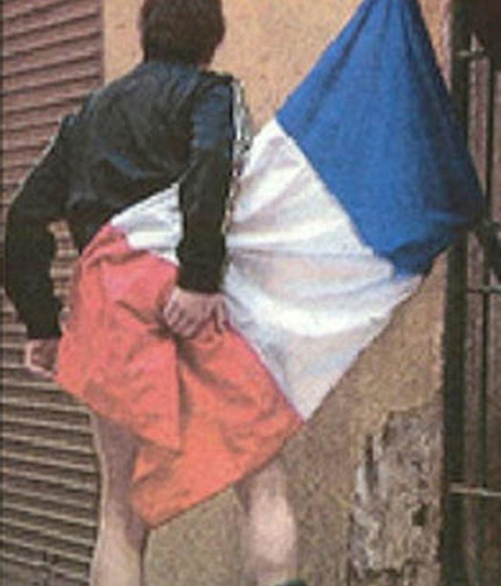 """La foto publicada en el diario """"Metro"""" y luego premiada por la Fnac de Niza."""