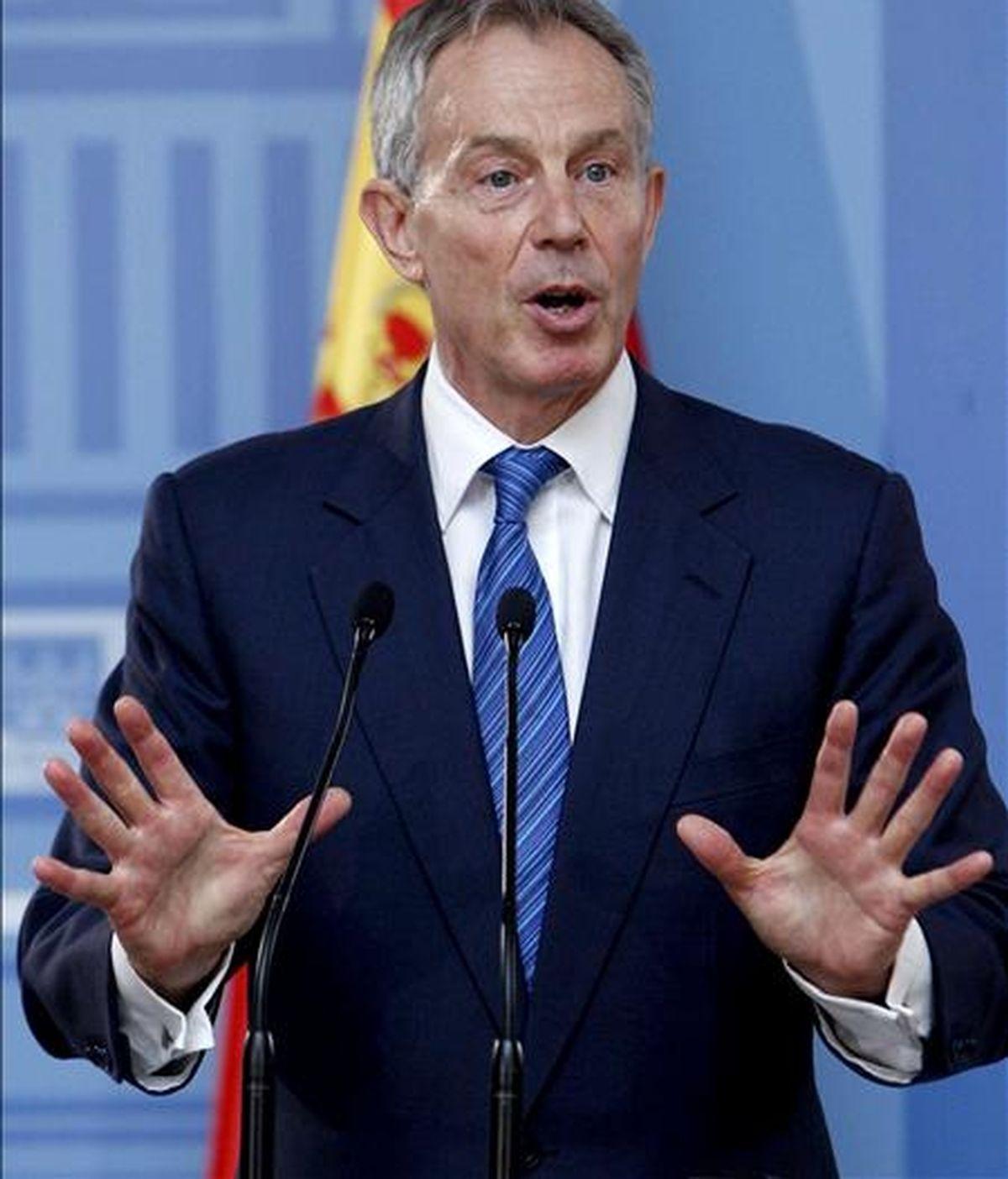 El ex primer ministro británico y enviado especial del Cuarteto de Madrid para Oriente Próximo, Tony Blair. EFE/Archivo
