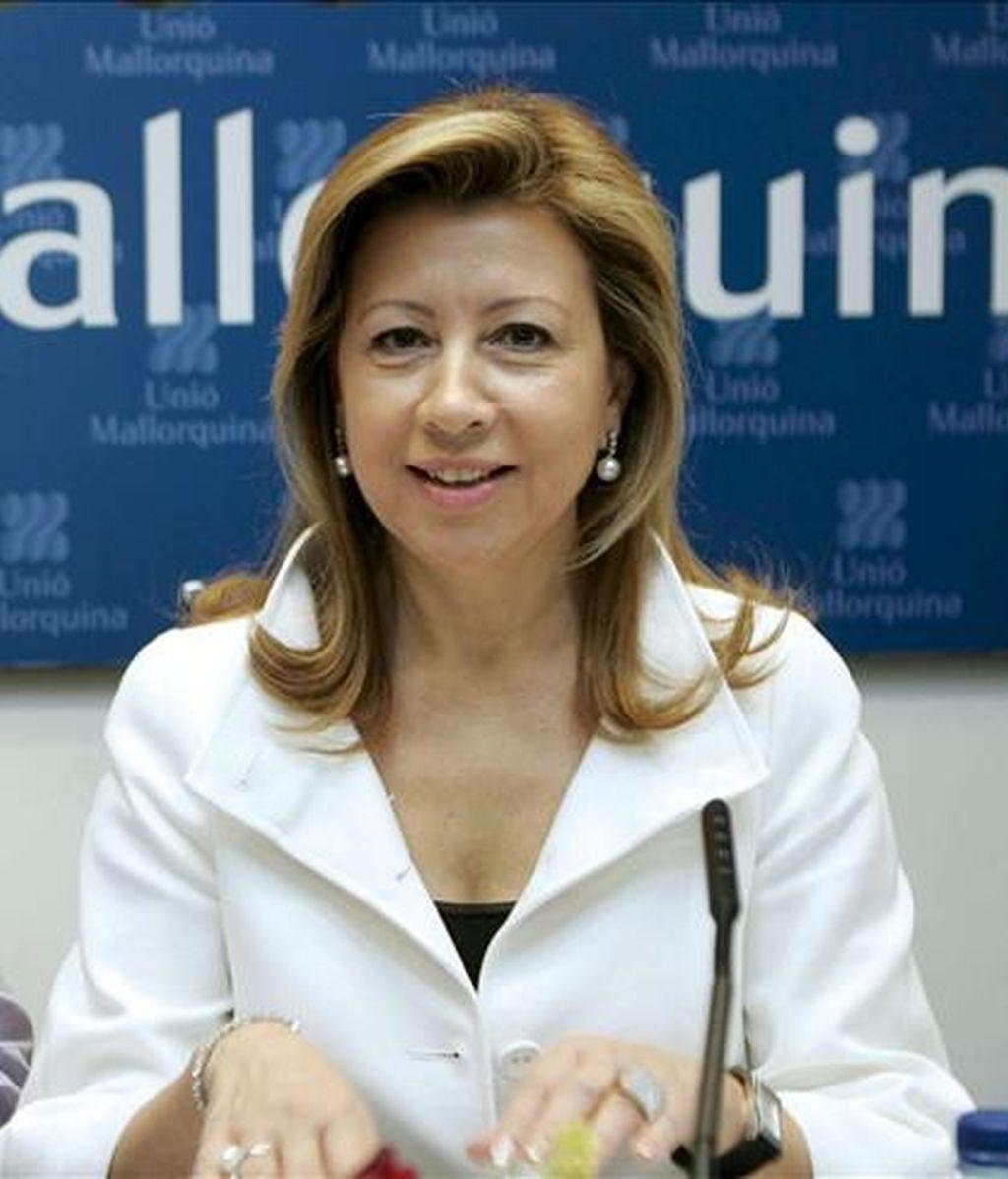 La ex presidenta del Consell de Mallorca, del Parlament y de UM, Maria Antònia Munar. EFE/Archivo