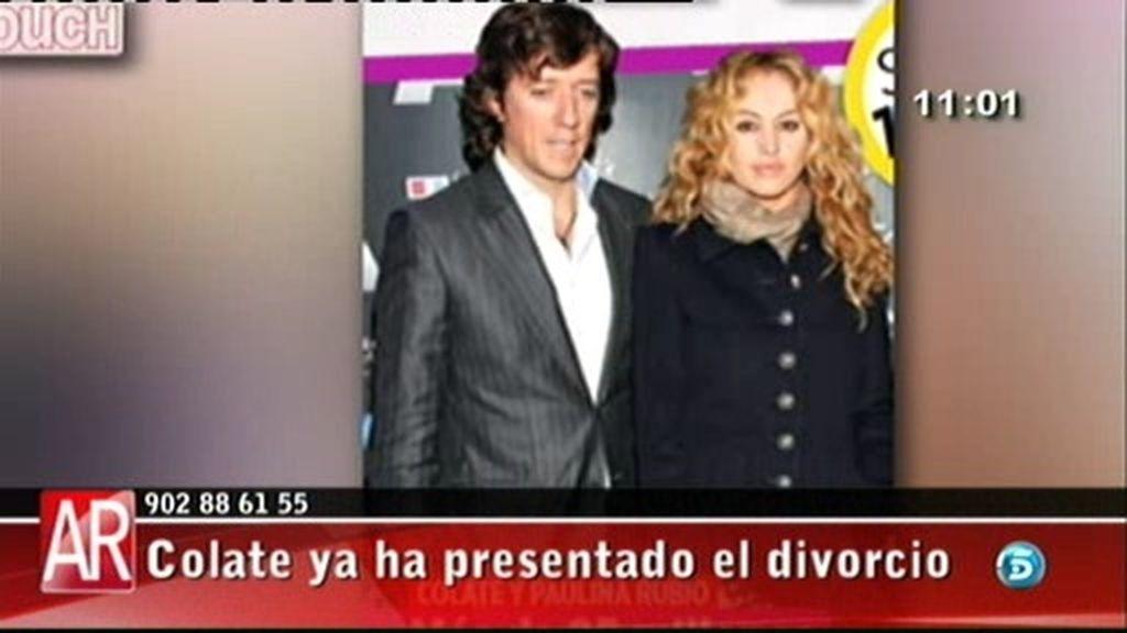 Colate presenta el divorcio de Paulina
