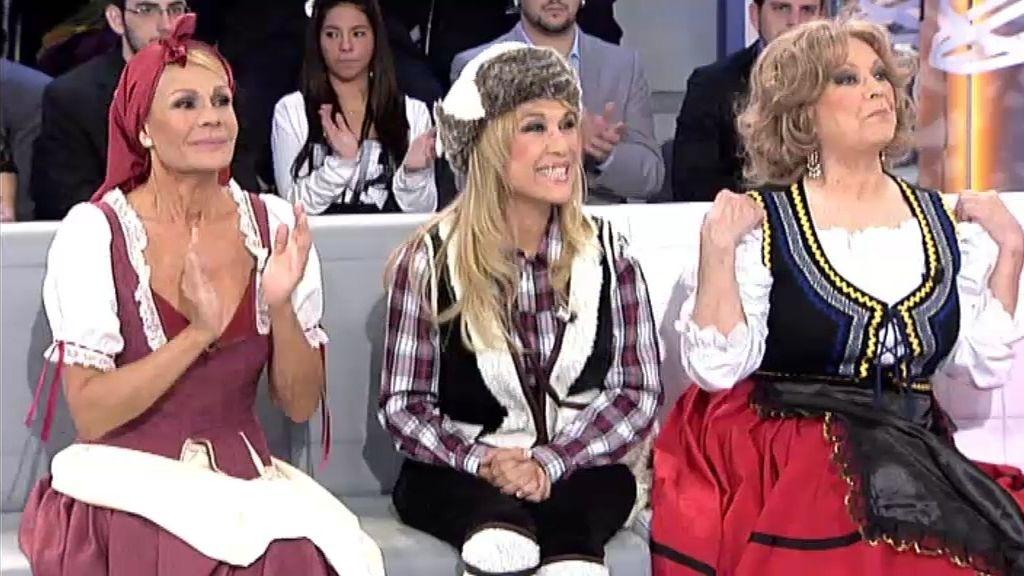 Helena Bianco, Alma María y Rosa Valenty, las pastorcillas de ¡QTTF!