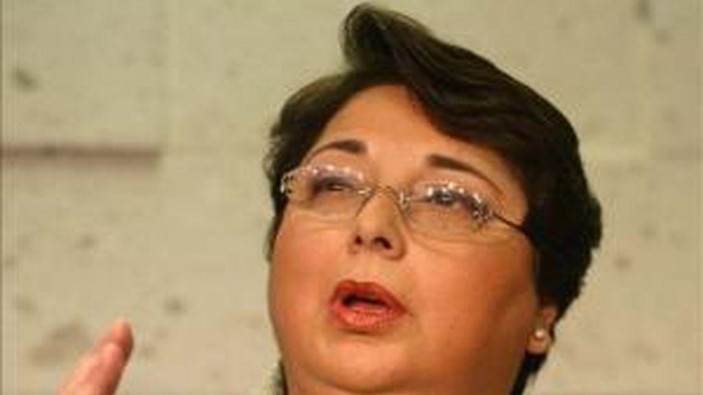 Imagen de la peruana Beatriz Merino, Defensora del Pueblo en Perú y presidenta de la Federación Iberoamericana de Onbudsmen (FIO) desde noviembre de 2009. EFE/Archivo