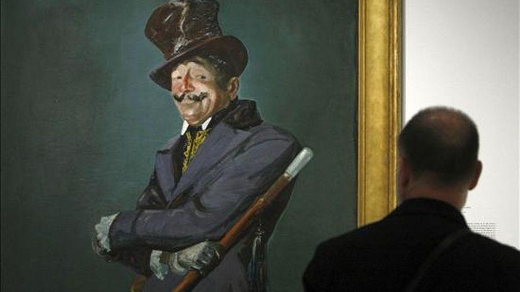"""""""Otis Skinner as Col Philippe Bridau"""", de George Luks, una de las obras que forman parte de """"Made in USA. Arte americano de la Phillips Collection"""", una muestra itinerante que rememora cien años de arte en Estados Unidos, que presenta la Fundación Mapfre. EFE"""