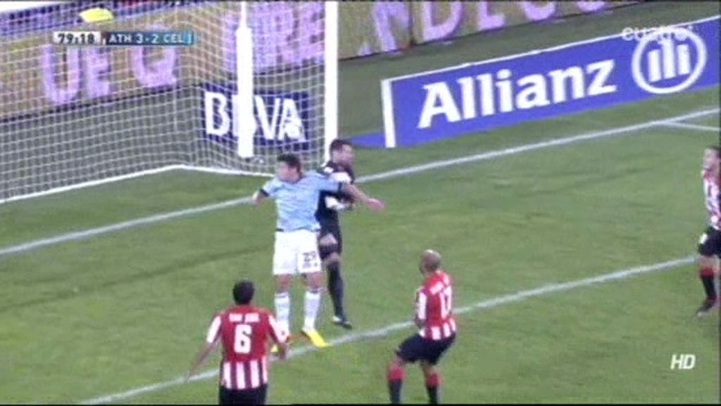 Gol de Santi Mina (Athletic 3-2 Celta)