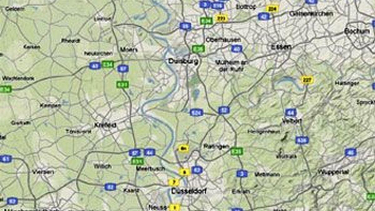 Duisburg, la localidad donde estaba ubicada la aldea en la que el presunto ex nazi perpetró la matanza masiva. Foto Google map