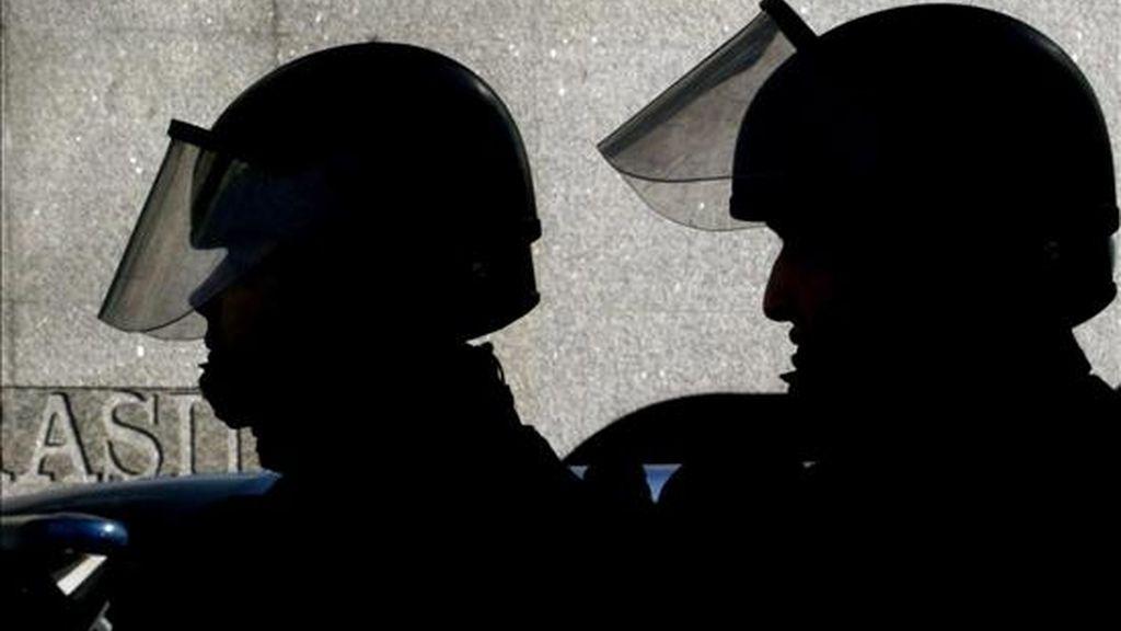 Por orden de la Dirección General de la Policía, fueron separados de sus cargos los agentes Anatolio Martínez y Omar Cervantes, y los auxiliares Diego Alejandro Medina y Jair Melo. EFE/Archivo