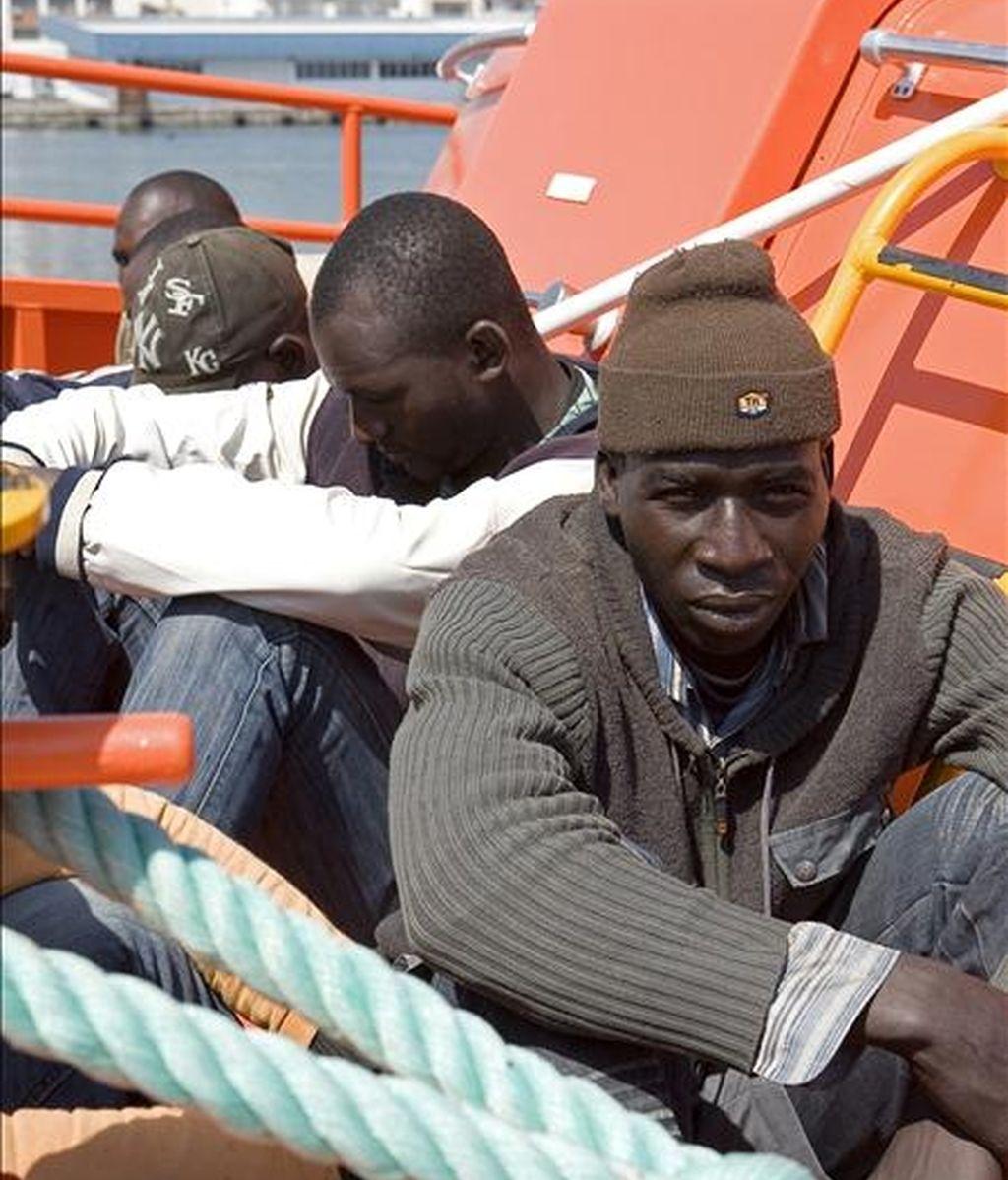 Inmigrantes en un patera. EFE/Archivo