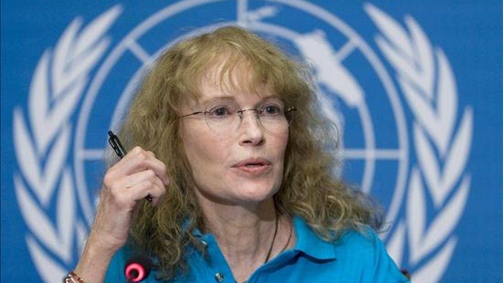 La actriz y embajadora de Buena Voluntad de la ONU, Mia Farrow, señaló que el 27 de abril comenzará un ayuno sólo de agua en solidaridad con el pueblo de Darfur. EFE/Archivo