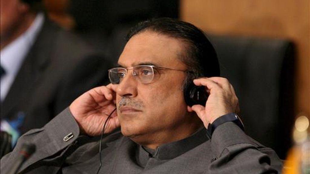 El presidente paquistaní, Asif Alí Zardari. EFE/Archivo