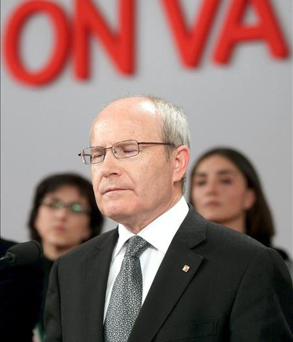 El presidente catalán en funciones, José Montilla, el pasado domingo tras conocer los resultados electorales. EFE