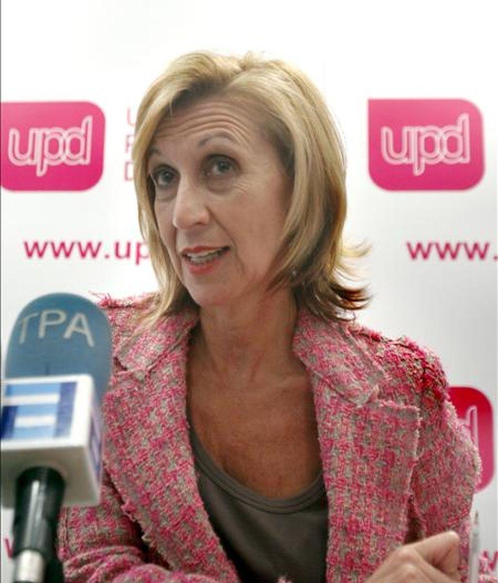 La diputada de Unión, Progreso y Democracia (UPyD), Rosa Díez. EFE/Archivo