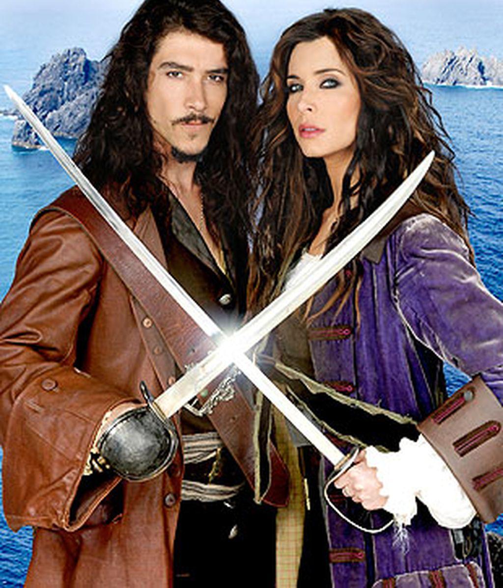 Pilar Rubio y Óscar Jaenada, protagonistas de 'Piratas'