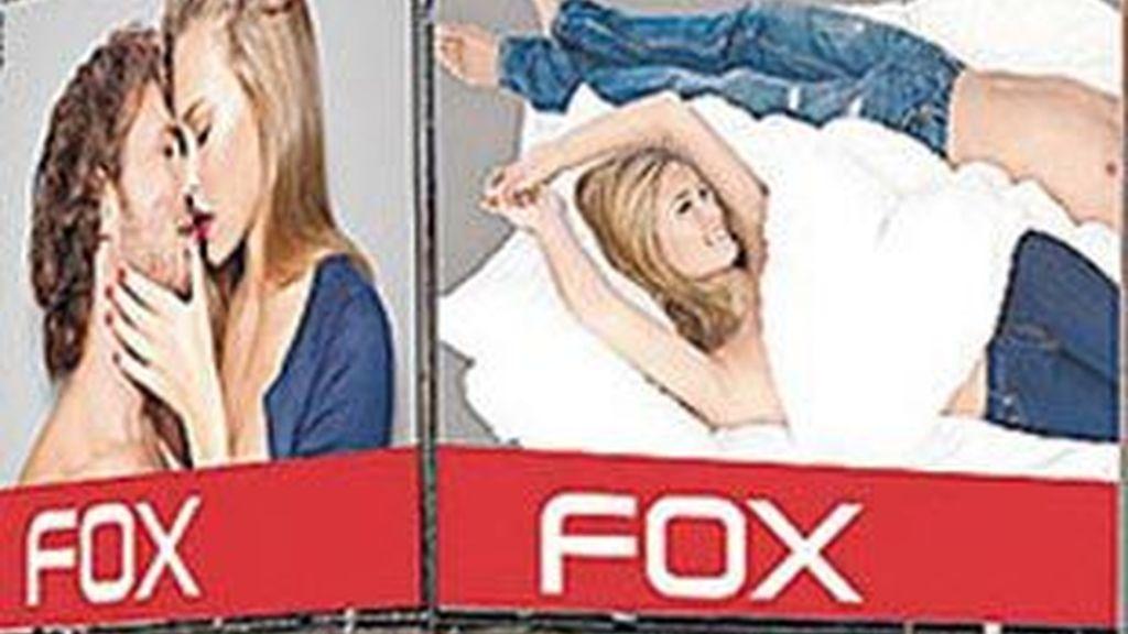 La modelo israelí Bar Rafaeli en el cartel de la discordia.
