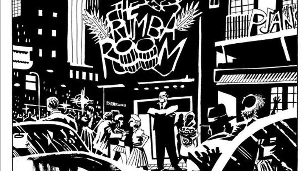 """Coqueteo, alcohol, cigarrillos y un mundo de apariencias fabrican un cóctel explosivo en """"Asquerosamente rica"""", una novela gráfica """"arquetípica"""" del género negro, un relato """"de crimen y sexo, y de como uno se relaciona con el otro"""", en palabras de su dibujante, Víctor Santos. EFE"""
