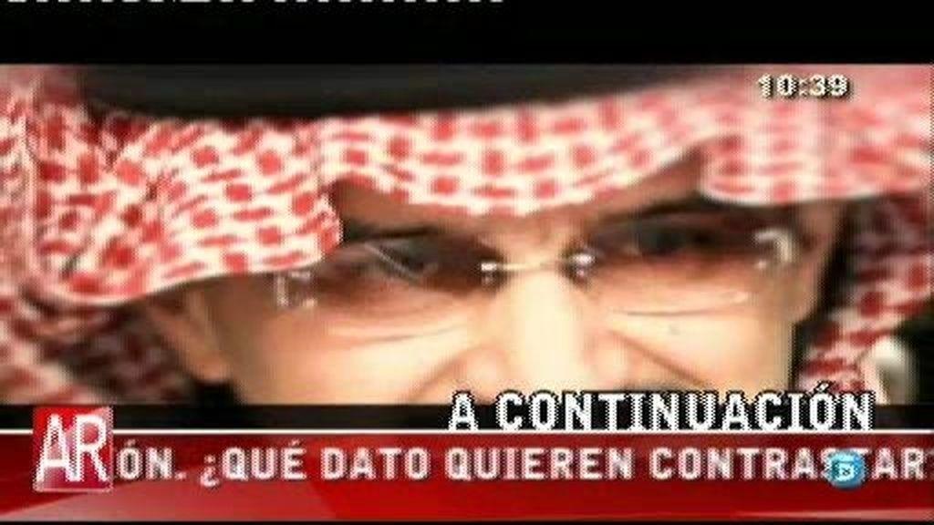 El bufete del príncipe Al Waleed asegura que no estaba en Ibiza en 2008