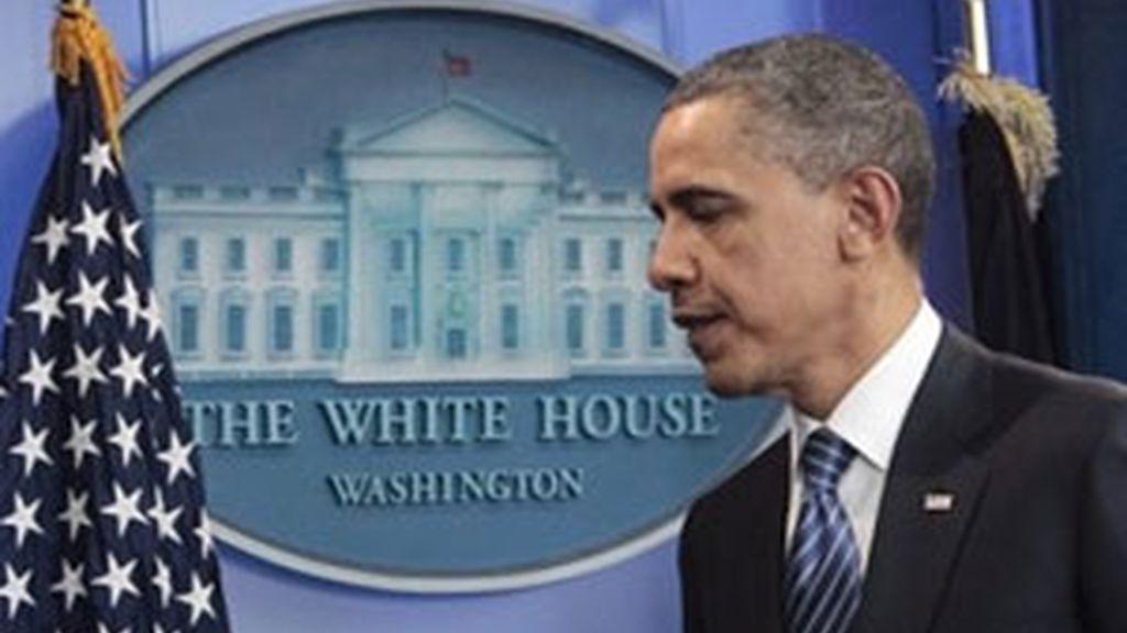 Obama durante su comparecencia ante los medios. Foto: AP