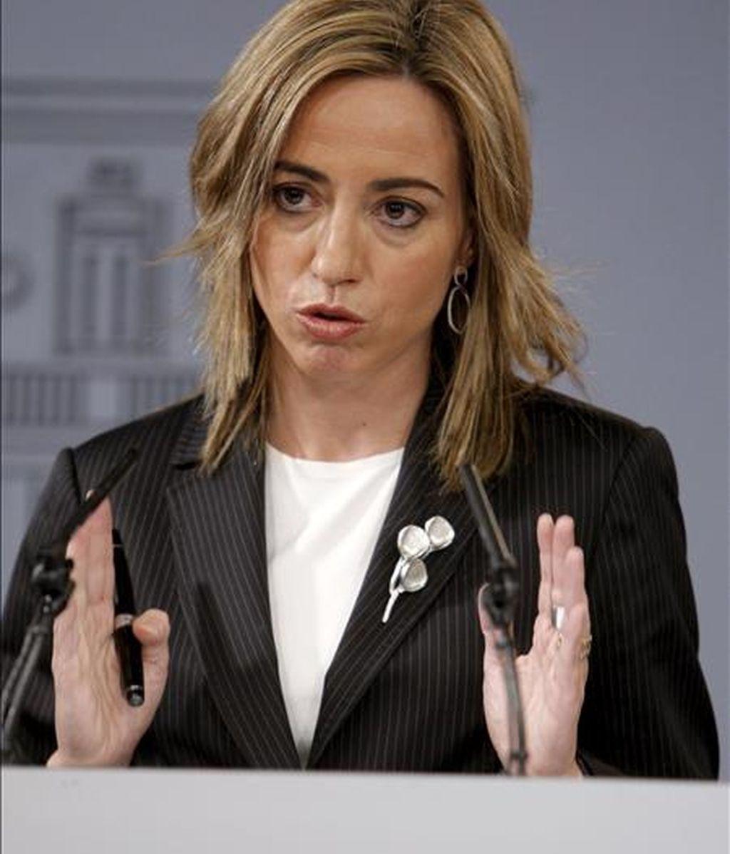 La ministra de Defensa, Carmen Chacón. EFE/Archivo