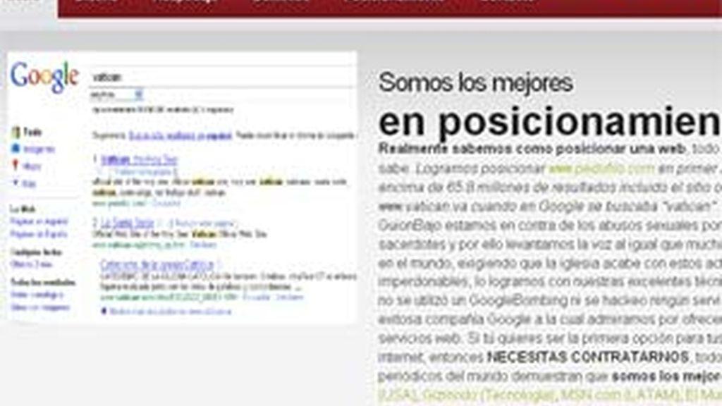 En su página web, GuionBajo.com explica sus razones para direccionar la página del Vaticano.
