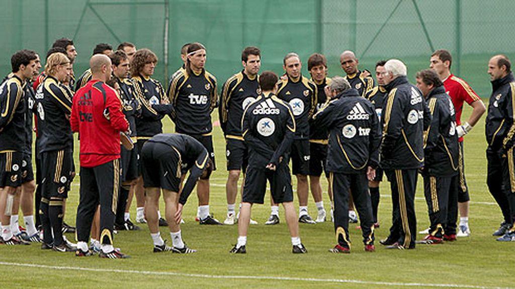 España ha vuelto a los entrenamientos. FOTO: EFE.
