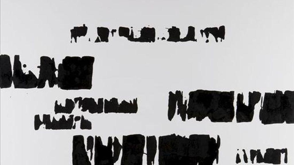 """Vista de una obra del artista español Gustavo Torner que ha presentado hoy en la Galería Atalaya de Palma (Mallorca) los 72 trabajos pictóricos y escultóricos que componen su """"Obra Última"""". EFE"""