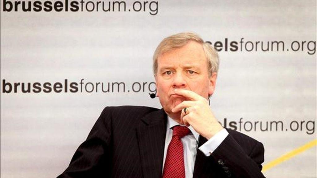 El secretario general de la OTAN, Jaap de Hoop Scheffer. EFE/Archivo