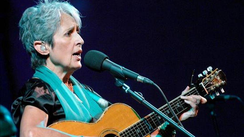 La cantante neoyorquina de folk Joan Baez volverá a actuar en el festival de Newport este año, donde debutó hace cinco décadas. EFE/Archivo