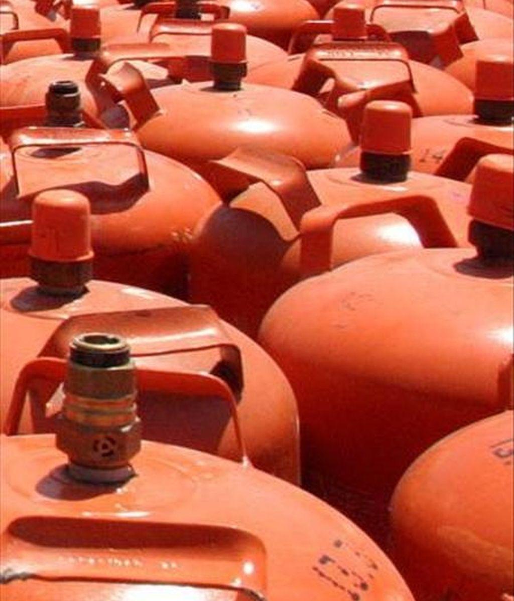 Vista de varias bombonas de butano. EFE/Archivo