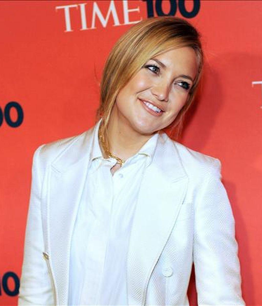 La actiz estadounidense Kate Hudson posa el pasado 5 de mayo a su llegada a la la gala 100 de la revista Time para la celebración del evento de las 100 personas más influyentes en el mundo que se llevó a cabo en Nueva York (EEUU). EFE/Archivo