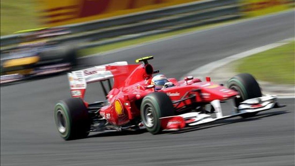 El piloto español de la escudería Ferrari, Fernando Alonso. EFE