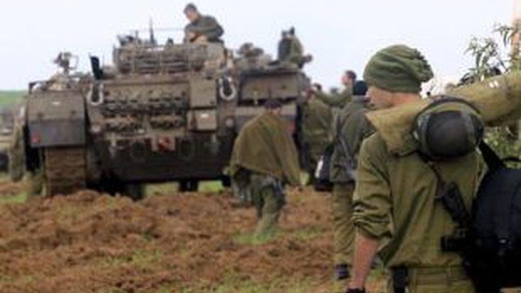 Imagen de uno de los tanques israelíes que participaron en la ofensiva contra Gaza. Foto: EFE