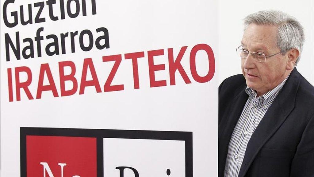 El candidato de NaBai 2011 al Gobierno Foral, Patxi Zabaleta. EFE/Archivo