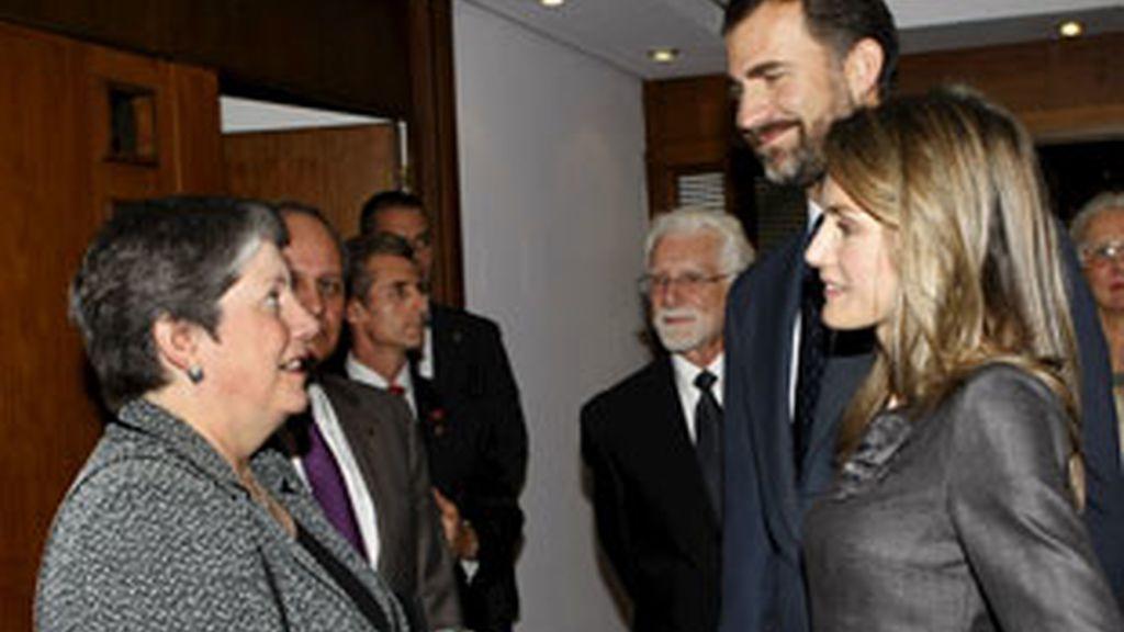 Los Príncipes de Asturias, en la 31 Conferencia Internacional de Autoridades de Protección de Datos y Privacidad. Foto: EFE.