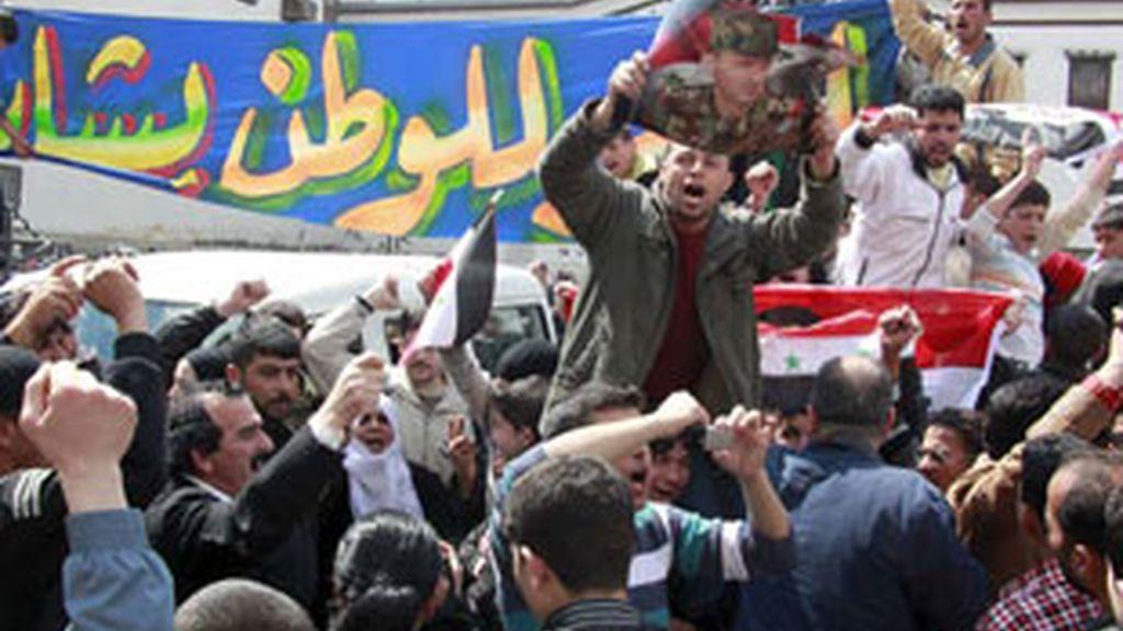 Imagen de archivo de una protesta en Siria.