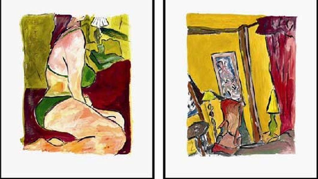 Las pinturas que Bob Dylan expone en Londres destacan por su colorido. Foto: EFE