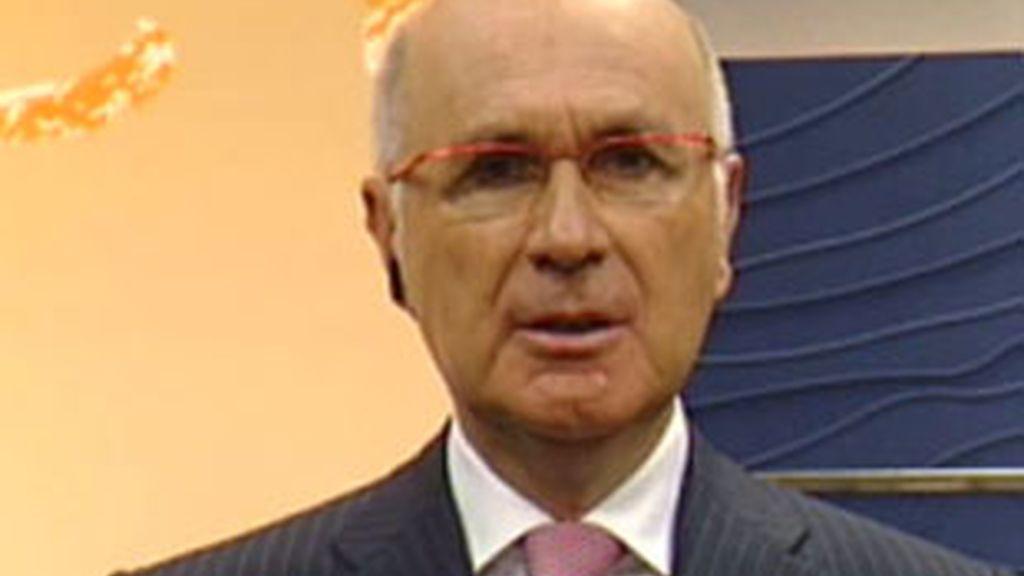 El portavoz de CiU en el Congreso, Josep Antoni Duran i Lleida, durante la entrevista en el Informativo Matinal. Vídeo: Informativos Telecinco.