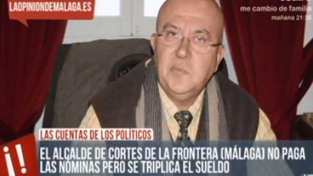 A pesar de la crisis, el alcalde de Cortes de la Frontera se ha subido el sueldo