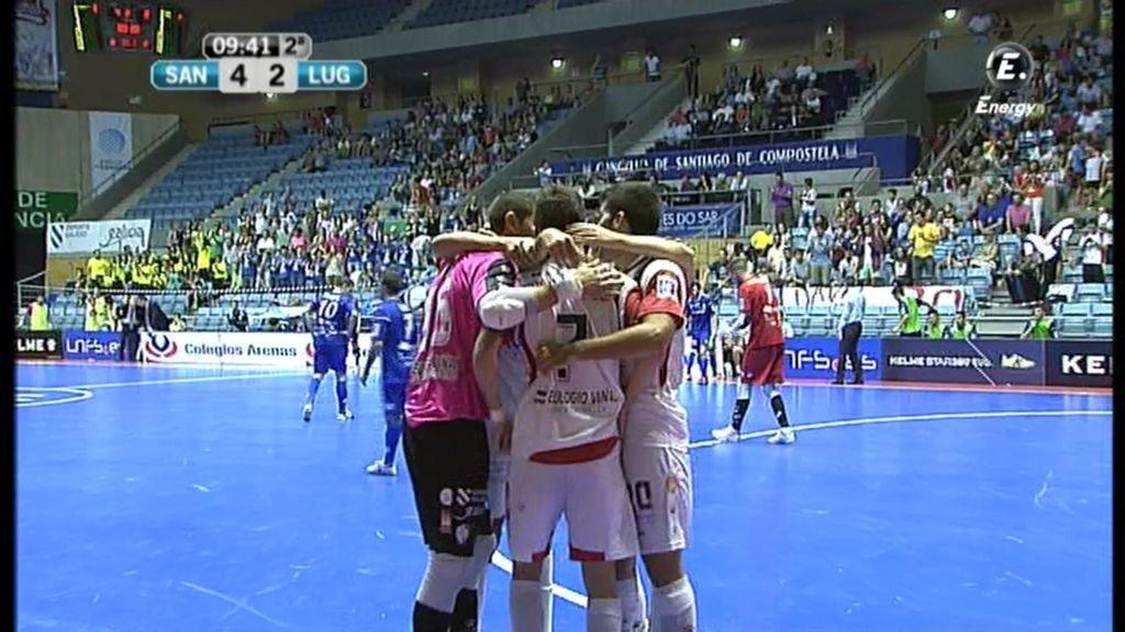 Gol de Palomeque (Santiago 4-2 Azkar)